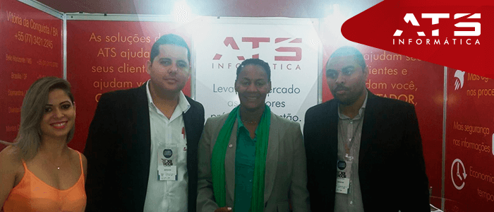 Vice prefeita de Salvador visita estande da ATS na XII Convenção de Contabilidade