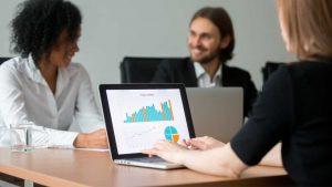 Gráficos sistema de gestão empresarial