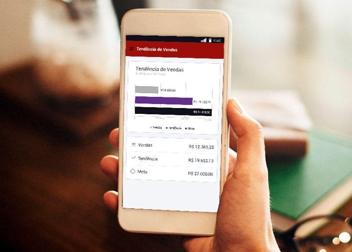 Gerencie de forma prática através aplicativo instalado no celular